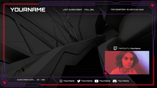 Doom - Twitch Overlay Template - product preview 1