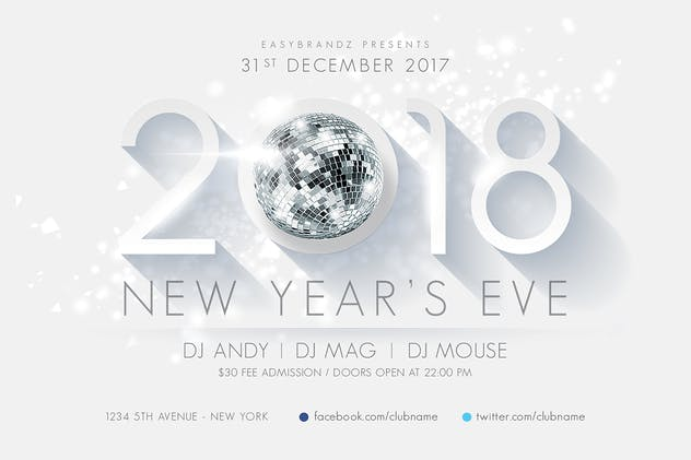 28 new years party flyers and digital invites envato