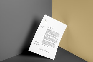 Thumbnail for Poster / A4 Letterhead Mockup Vol. 3