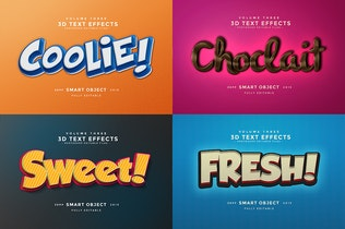 Thumbnail for 3D Text Effects Vol.3