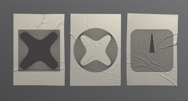 56 illusions forms abstract. Surrealistic optical - product preview 2