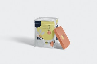 Thumbnail für Metallic Box Verpackung Mock-ups