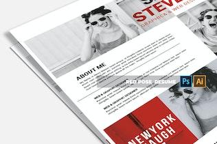 Thumbnail for Red Pose   CV & Resume