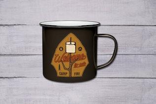 Camping Patch / Hiking Badge / Vintage Travel Logo