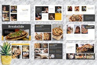 Thumbnail for Prizza – Pizza & Beverage Googleslide Template