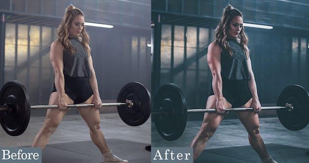 Dark Fitness Photoshop Actions