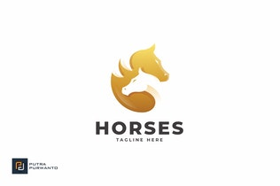 Thumbnail for Horses - Logo Template