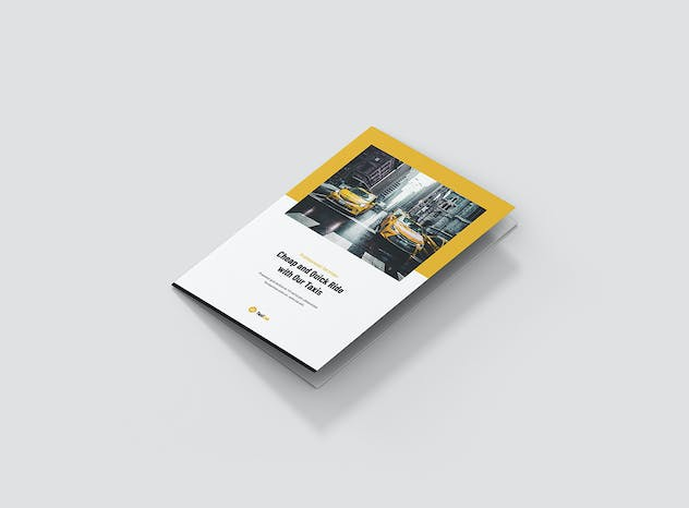 Taxi Cab – Brochures Bundle Print Templates 5 in 1 - product preview 8