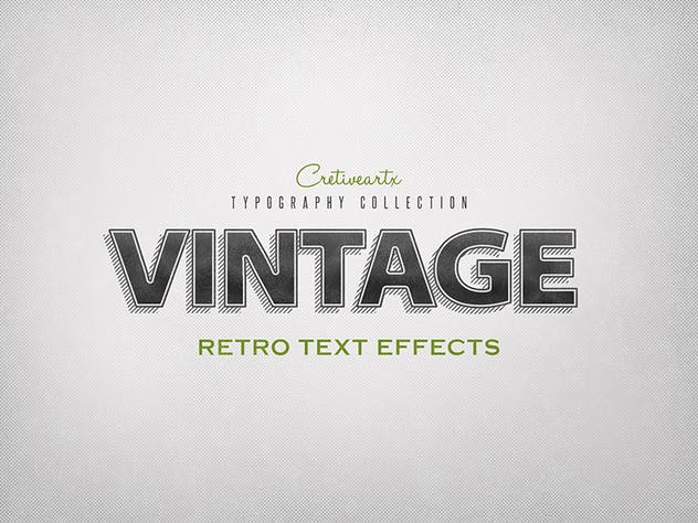 Vintage/Retro Text Effects 7 - product preview 7