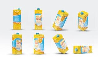 Thumbnail for Milk or Juice Carton Mock-Up v.1