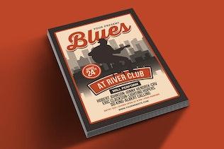 Thumbnail for Blues Music Flyer