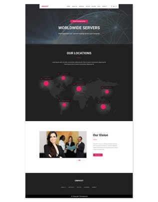 Thumbnail for UniHost - Hosting Services PSD Template