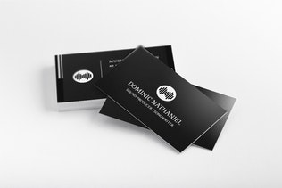 Black Creative Business Card Template