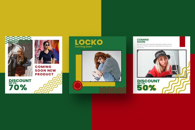 Locko Social Media Template - product preview 2