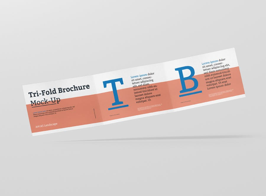 tri fold brochure mockup din a4 a5 a6 landscape by visconbiz on envato elements