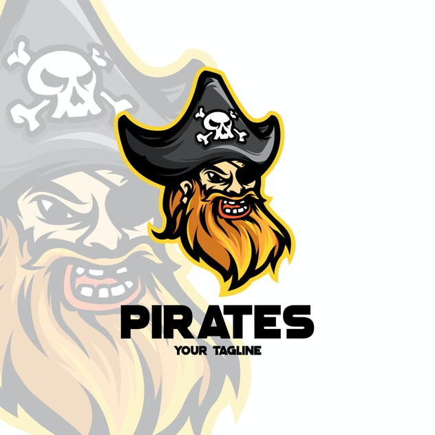 PIRATES MASCOT LOGO TEMPLATE - product preview 1