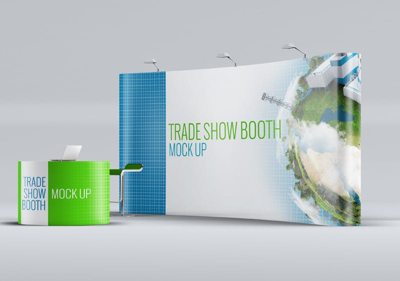 Exhibition Stand Mockup Psd Free : Trade show booth mock up by l5design on envato elements
