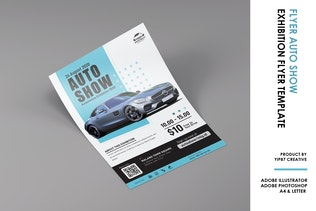 Thumbnail for Auto Show - Car Exhibition Poster Flyer