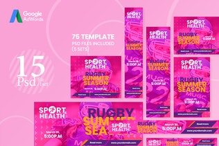 Thumbnail for 75 Web Ad Banners-Sport and Health 01