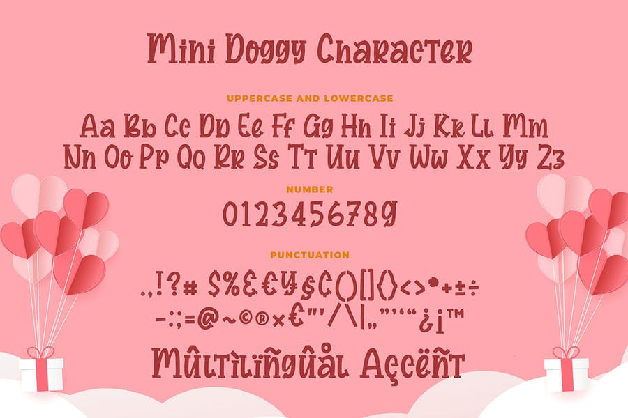 Mini Doggy a Bouncy Serif Font - product preview 5