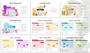2020 Calendar Keynote Template