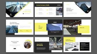 Пирамида - Профиль компании Google Slide Шаблон