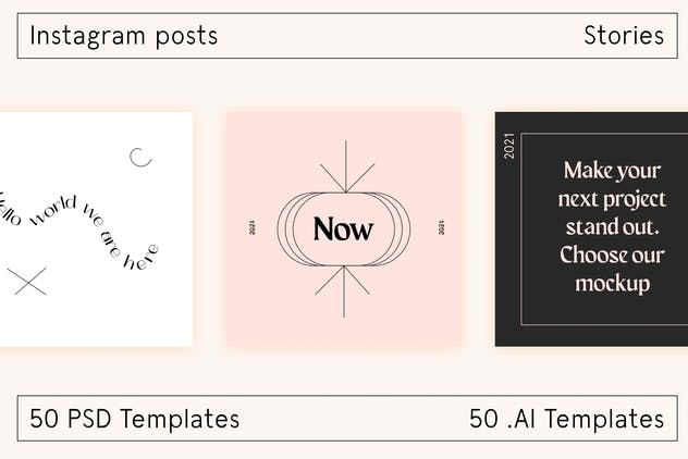 Lo Fi Instagram social template - product preview 4