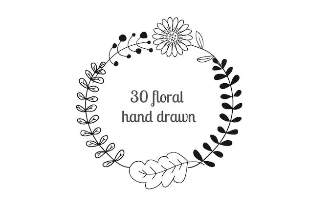 Floral Hand Drawn