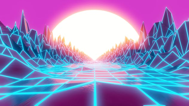 Synthwave And Retrowave Background 002