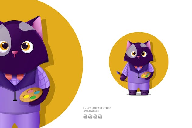 Cat Illustration - product preview 1