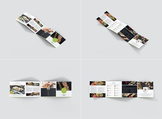 Sushi Restaurant – Brochures Bundle 10 in 1