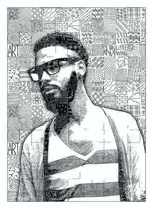Thumbnail for Doodle Mosaic Art Photoshop Action