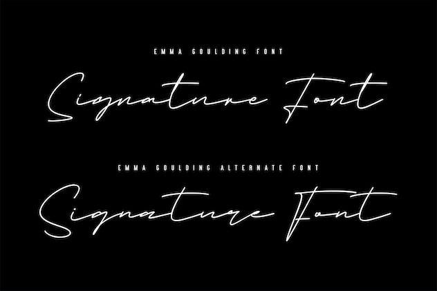 Emma Goulding Signature Collection Script Font - product preview 3