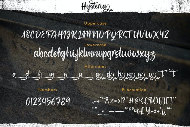 Hysteria - Stylish Script Font - product preview 2