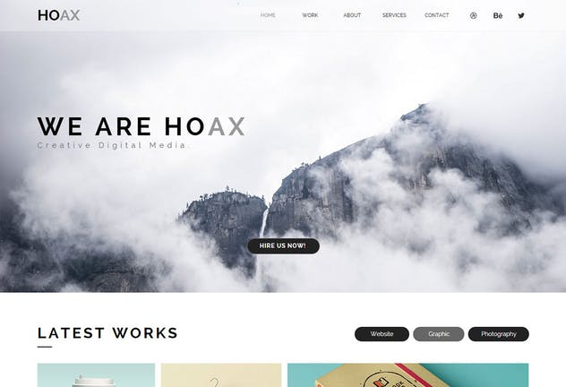 HOAX - Creative Multipurpose Muse Templates YR - product preview 2