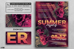 Thumbnail for Summer Nights Flyer Template