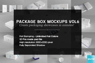 Thumbnail for Package Box Mockups Vol6