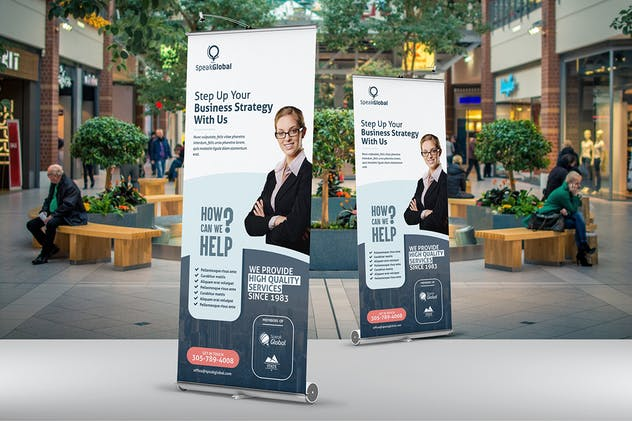 Business Roll Up Banner Template - product preview 1