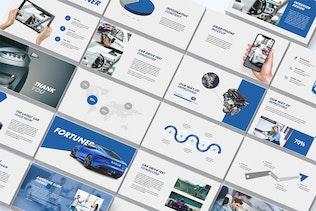 Миниатюра для Автомобильные - Powerpoint Шаблон