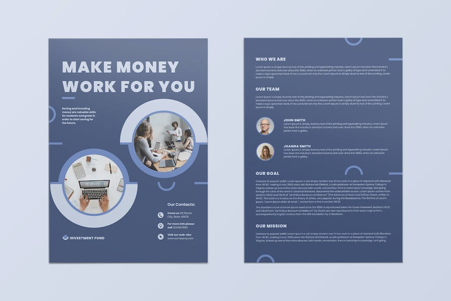 Investment Fund Flyer - product preview 1