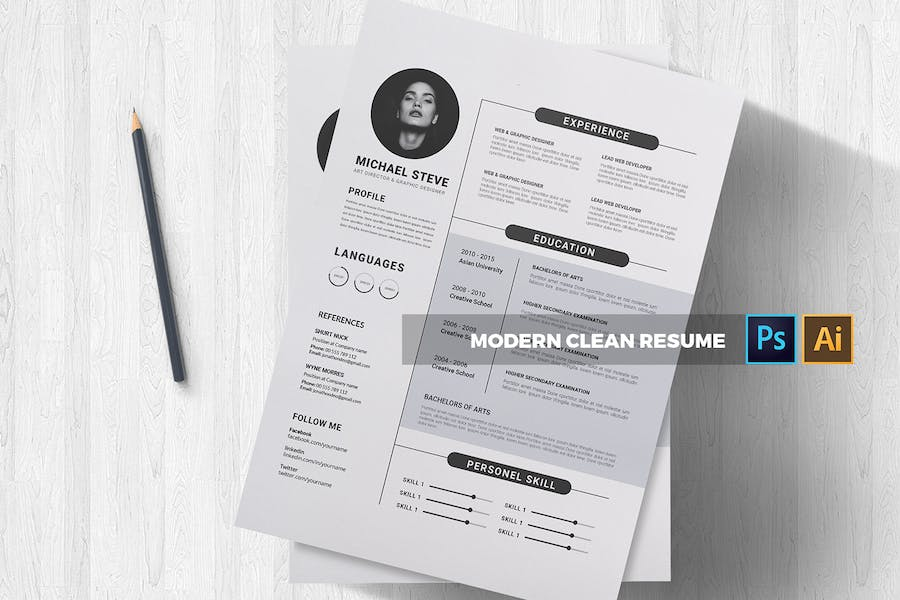 Modern | CV & Resume - product preview 3