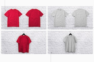 T Shirt Collection Mockup