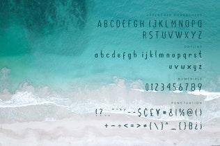 Ocean - Police d'été écriture à la main