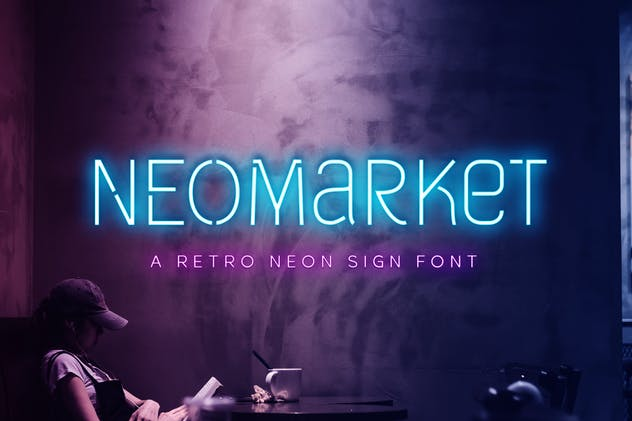 Neomarket - Retro Neon Sign Font - product preview 8
