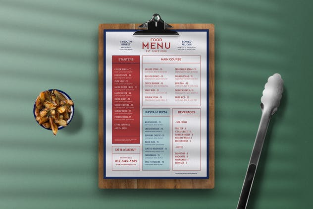 Modern Food Menu - product preview 3