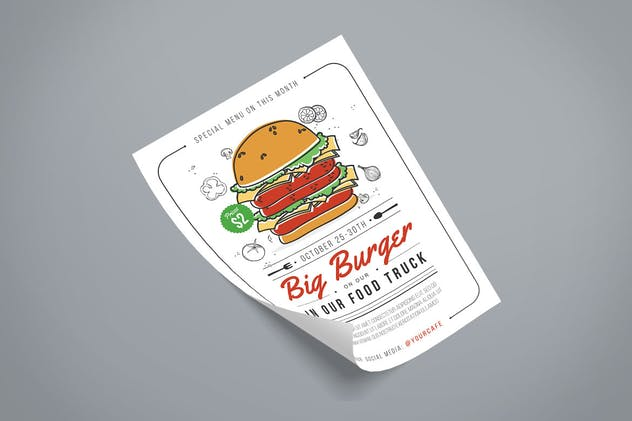 Burger Flyer - product preview 2