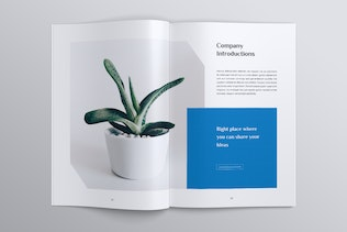 Thumbnail for MADDON Botanical Business Brochures Template