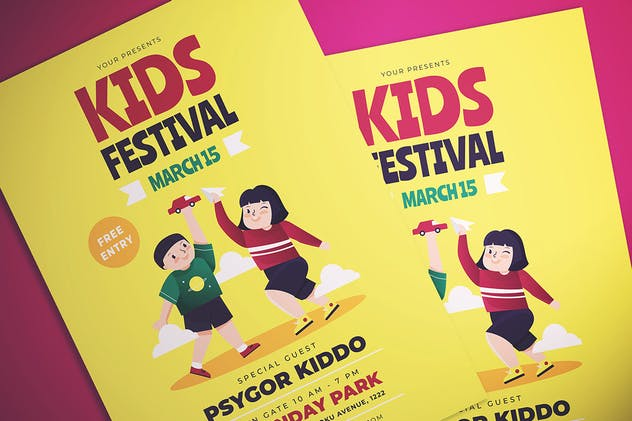 Kids Fest Flyer - product preview 1