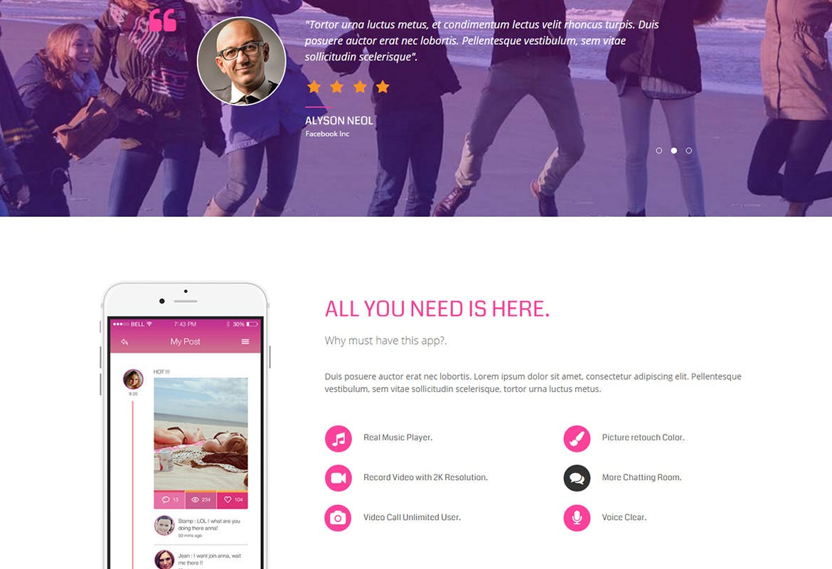 BRIX - Mobile App landing page Muse Template YR