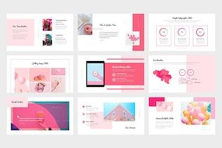 Thumbnail for Wazea : Pink Gradient Color Tone Keynote